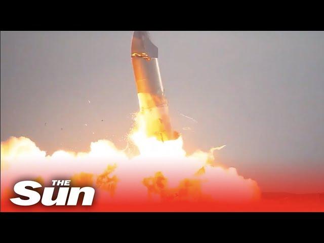 Elon Musk's SpaceX Starship SN10 EXPLODES due to 'methane leak'