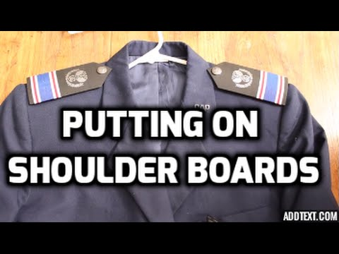 How To Put Shoulder Boards On
