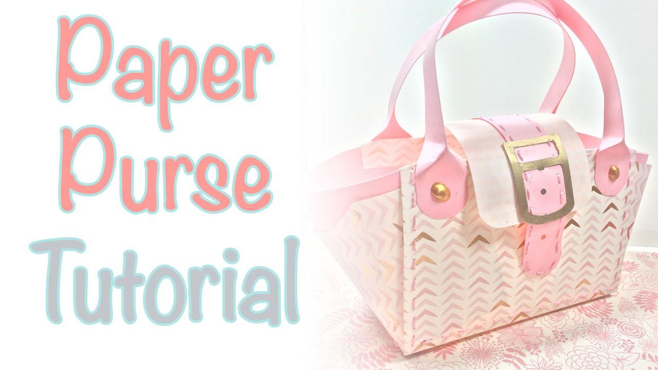 Paper Purse Tutorial   Craftiella Designs - YouTube