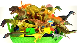 Learn Dinosaur Names -  Dinosaurs for kids - T rex 🌋 Schleich Volcano erupts -  What's in the box?