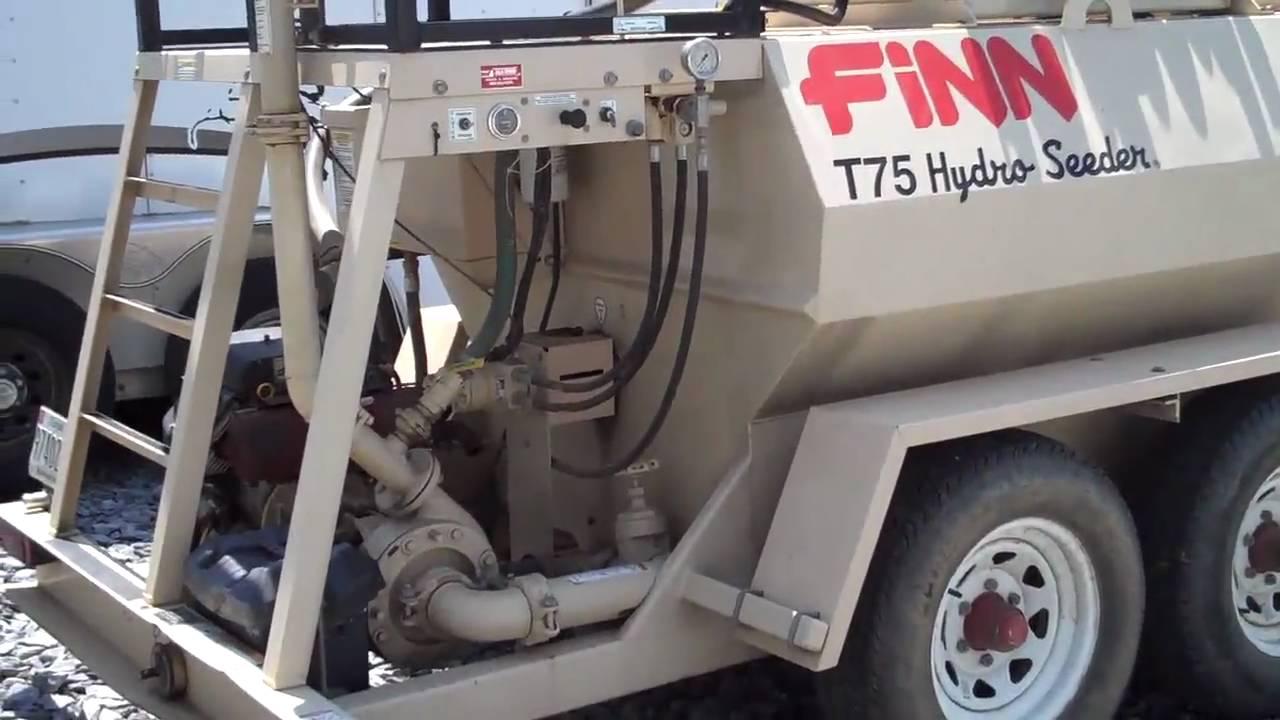 finn t75 hydroseeder w  700 gallon tank  u0026quot sold u0026quot