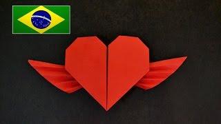 Origami: Coração Alado ( Francis Ow ) - Instruções em português PT BR