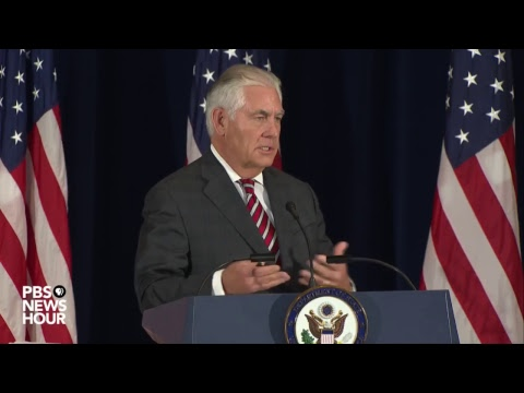 Secs. Tillerson and Mattis joint news conference on China discussions