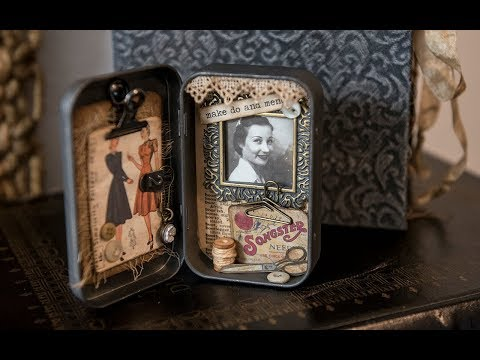 Altered Tin - Mini Shadowbox project