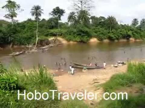 River in Elubo Ghana in Front of the Cocoville Hotel