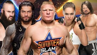 WWE Summerslam 2018 Results Predictions | Summerslam 2018 matches | Summerslam 2018 spoilers