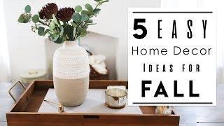 INTERIOR DESIGN | TOP 5 Best Home Decor Ideas to Decorate your Rented Apartment for Fall