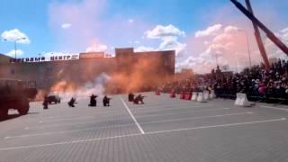 Кобрин 9 мая День победы 70 лет победы. Выступление 38 ВДВ Брест  пп полесье. захват