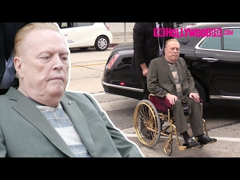 Larry Flynt Arrives To Craig's Restaurant In His Custom Gold Wheelchair 4.7.16