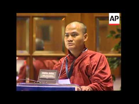 Monk speaks against Myanmar govt at Human Rights Conference