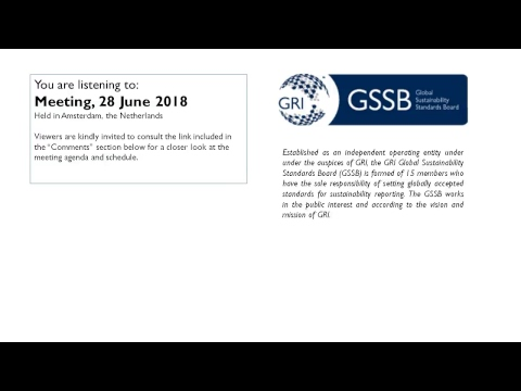 GSSB GRI Meeting 28 June 2018