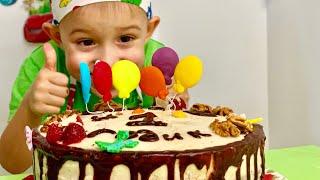 Украшаем торт 🎂 для братика 🥳🎉🎁 ВЛОГ