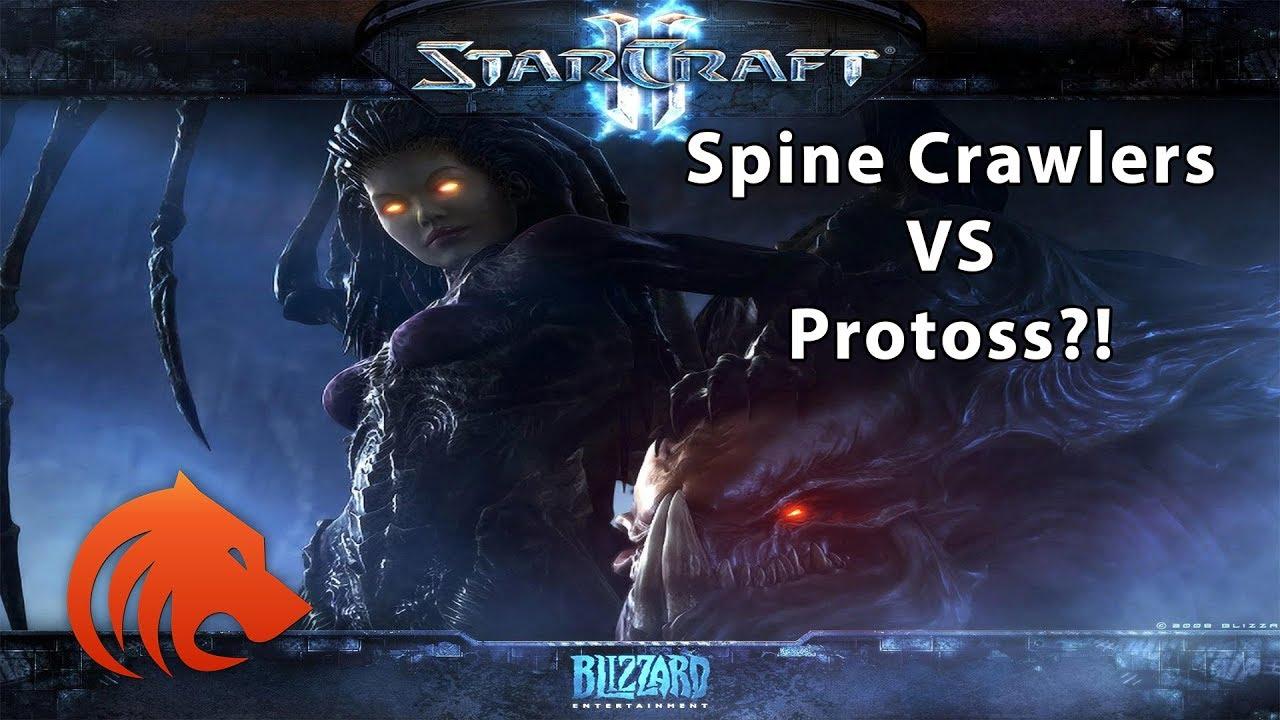 StarCraft 2: Spine Crawlers VS Protoss?!