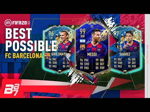 BEST POSSIBLE BARCELONA TEAM w/ TOTY 99 MESSI & TOTS 97 SUAREZ! | FIFA 20 ULTIMATE TEAM