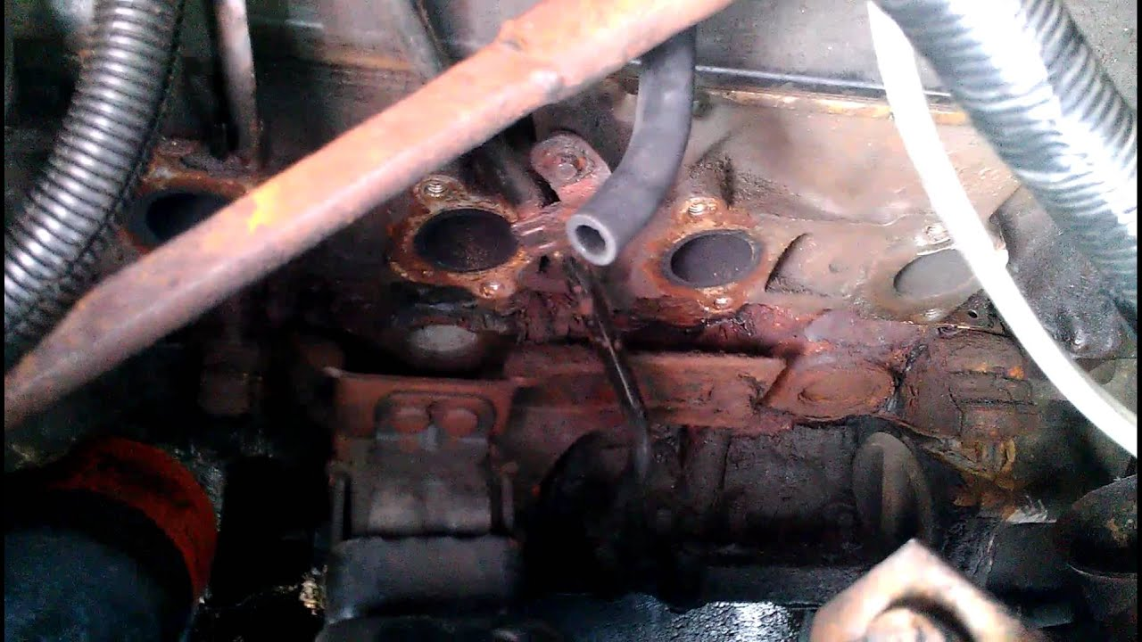 Ford Explorer Exhaust Leak >> 1997 f150 exhaust manifold change - YouTube
