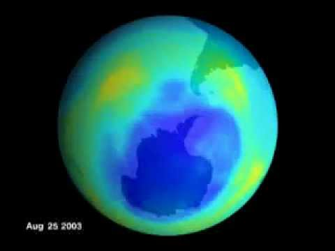 Ozone hole, animation by NASA