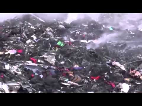 Crashed Site Video Footage of  MH17 Malaysian Airlines Crash at Eastern Ukraine