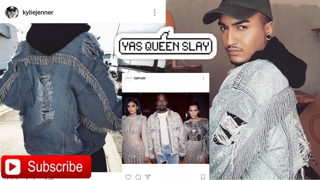 c0beccca1d0 SLAY THE LOOK   D.I.Y Luxury Distressed Denim Jacket - YouTube