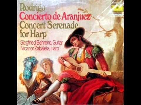 Rodrigo / Nicanor Zabaleta, 1960: Concierto Serenata Para Arpa Y Orquesta - Sarao, Allegro deciso