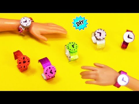 DIY: ⌚How to make Barbie doll ACCESSORIES and WATCHES very Eassy!! Recycling!