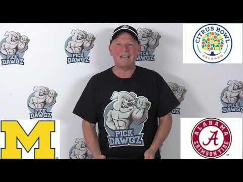 Alabama vs Michigan 1/1/20 Free College Football Pick and Prediction: Citrus Bowl