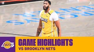 HIGHLIGHTS | Anthony Davis (16 pts, 11 reb) at Brooklyn Nets