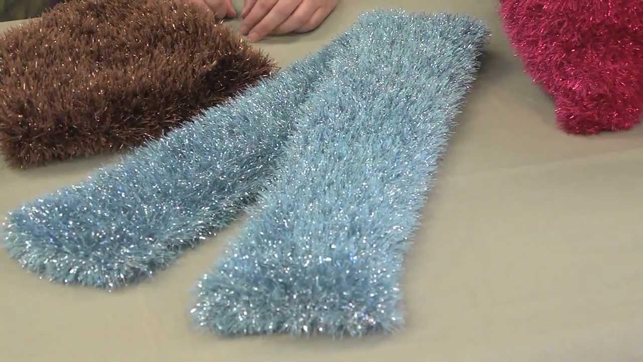 Get to Know Martha Stewart Crafts Glitter Eyelash Yarn - YouTube