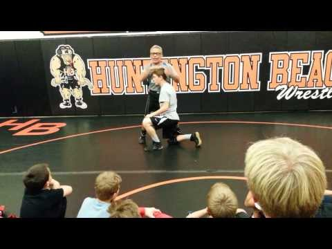 Wrestling technique - Joe Gonzales teaches wrestling defense to youth wrestlers