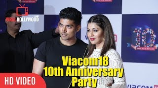 Gurmeet Choudhary And Wife Debina Bonnerjee At Viacom18 10th Anniversary Party