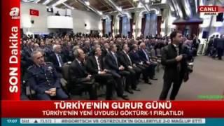 Cumhurbaşkanı Erdoğan GÖKTÜRK 1 Uydusu Fırlatma Töreni Konuşması 5 Aralık 2016