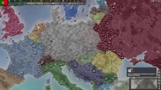 Hearts of Iron 3 timelapse Europe 1936 - 1944