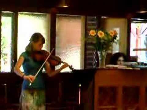 Rebekka violin recital 2007
