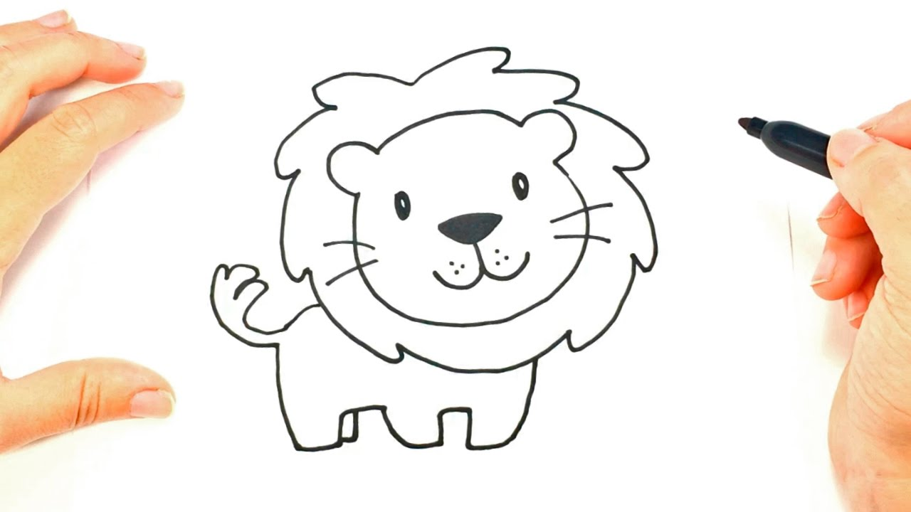 how to draw a lion face lion head easy draw tutorial [ 1280 x 720 Pixel ]