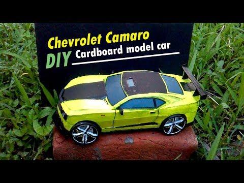 Wow! DIY custom Chevrolet Camaro 2010 model | How to make by hard paper & cardboard | Darrang Boyz |