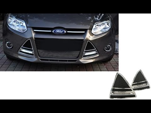 2012 2014 ford focus led tube daytime running lights youtube