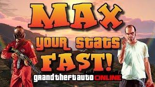 GTA Online [GTA 5] MAX YOUR STATS FAST!