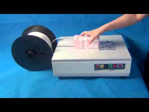 ZK 200T Banknote Strapping Machine for end User-Official Video