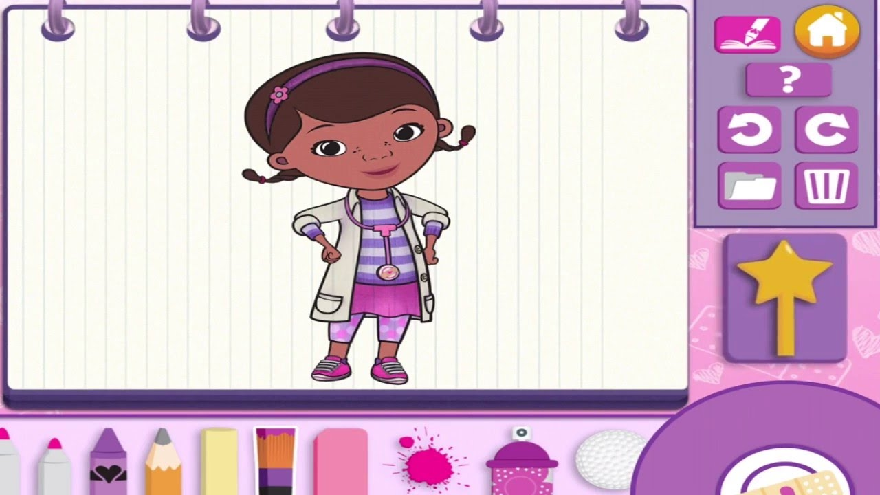 doc mcstuffins color and play disney junior 3d animated