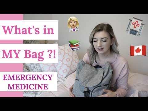 What's In My MED SCHOOL Bag | Third Year Medical Student (Canadian)