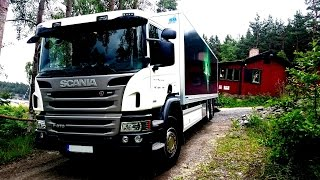 Truck Delivery, GoPro first person view - 2014 Scania P370. How To #Real Life