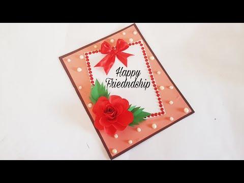 happy Friendship Day card idea. Handmade greeting card