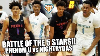 BATTLE OF THE 5-STARS!! | Scottie Barnes vs Jalen Johnson HEADLINES PhenomU & Nightrydas Matchup