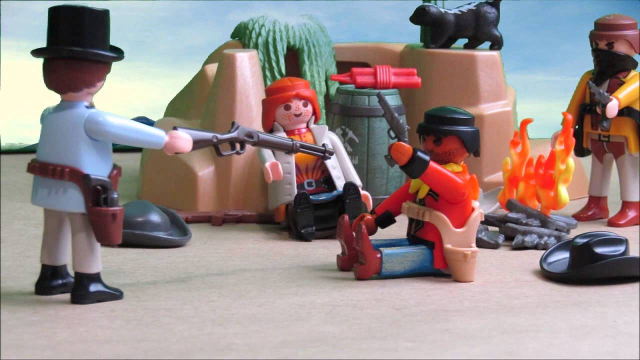 el ca on del lobo far west playmobil stop motion youtube. Black Bedroom Furniture Sets. Home Design Ideas