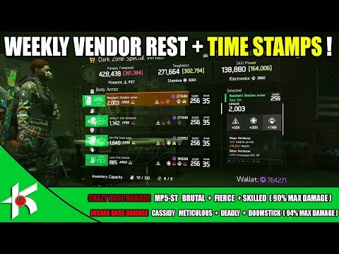 The Division | VENDOR RESET + TIME STAMP -  OCT 7th 2017