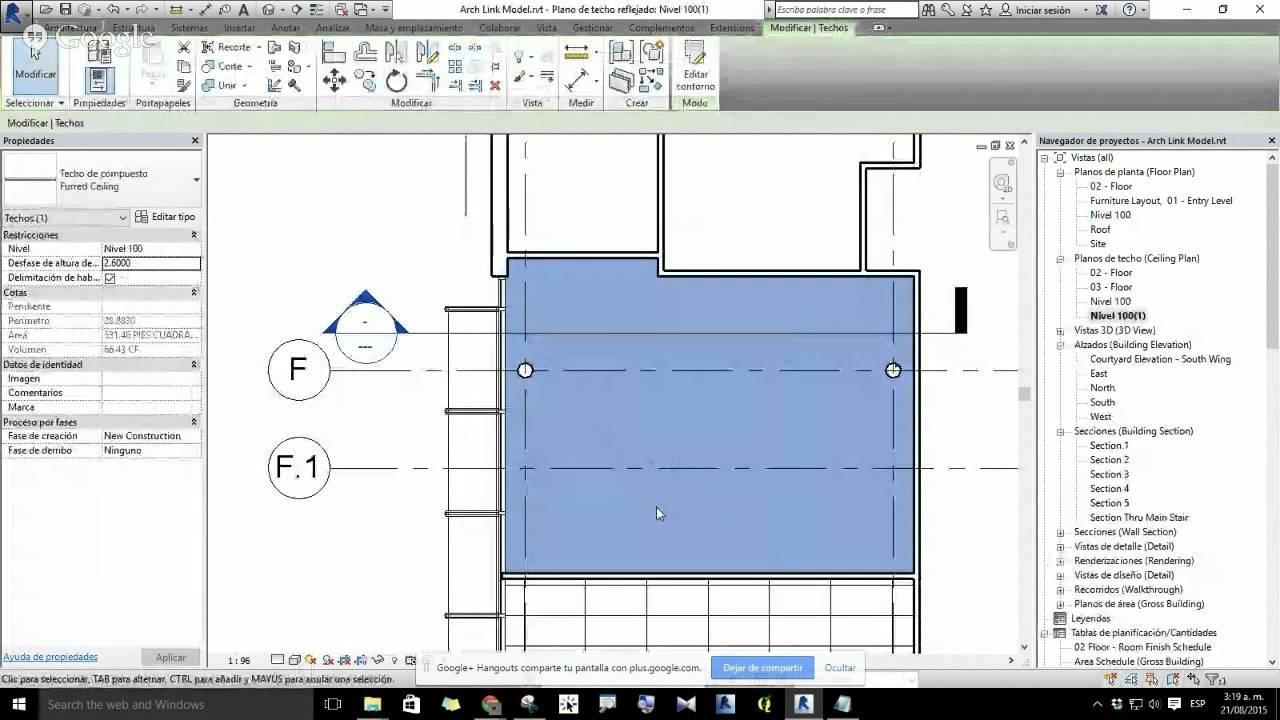 02 plano de techo reflejado youtube for Plano de un vivero forestal