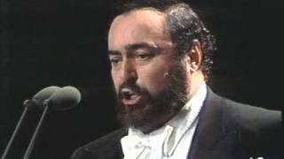 Luciano Pavarotti - Addio fiorito asil - 1990 - Milano - FIFA concert