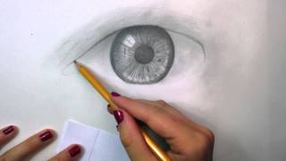 How to draw a realistic eye (Time-lapse)