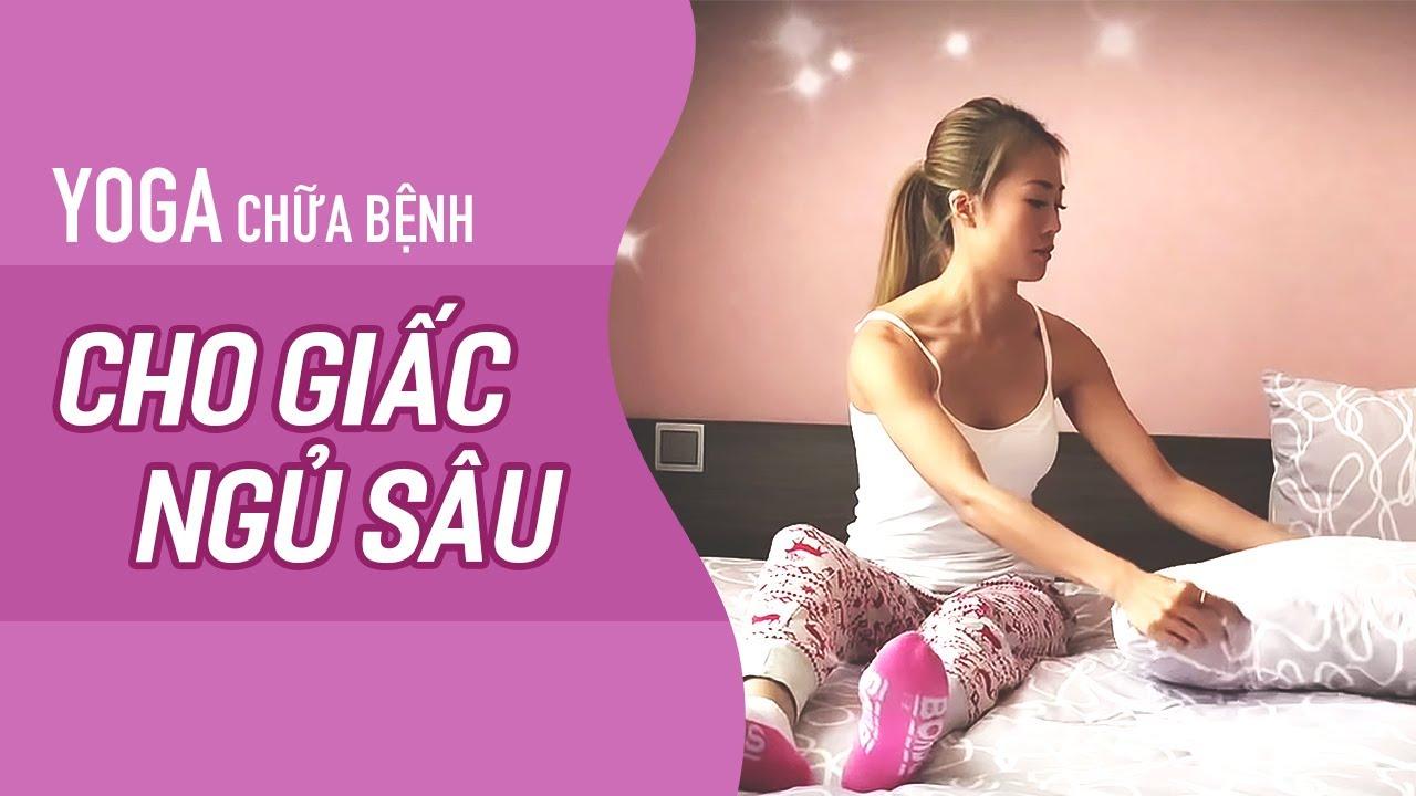 Yoga trước khi ngủ cho GIẤC NGỦ SÂU (15ph, All levels) | YogaBySophie.com