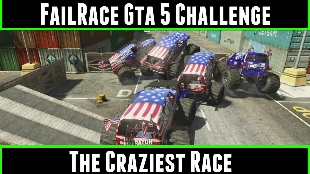 FailRace Gta 5 Challenge The Craziest Race - YouTube