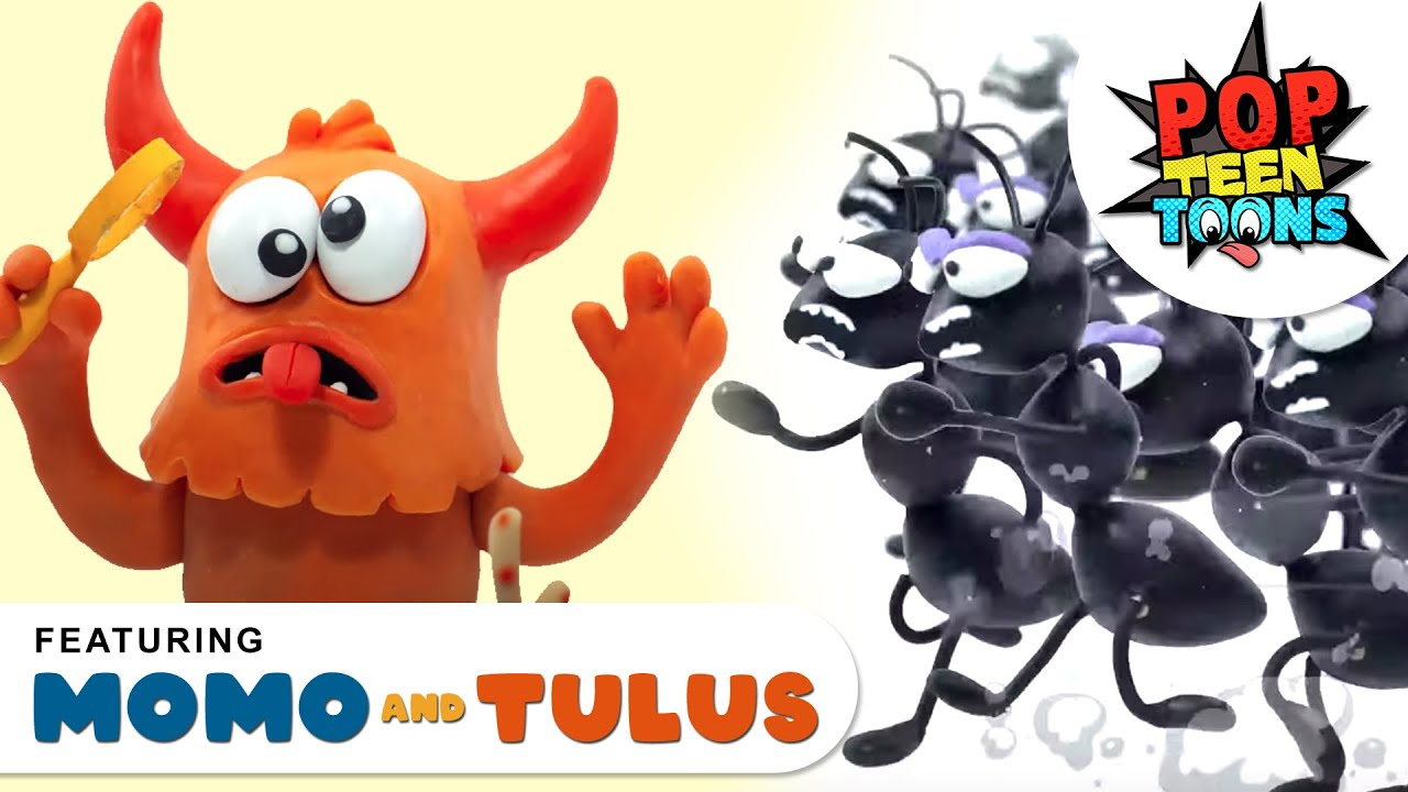 ANT ATTACK 🐜 🐜 | Momo and Tulus - Funny Monsters | Cartoons for Kids | Pop Teen Toons